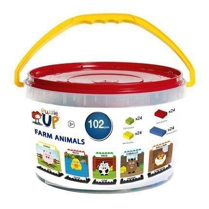 Puzzle Up Animales de granja 102 piezas envase