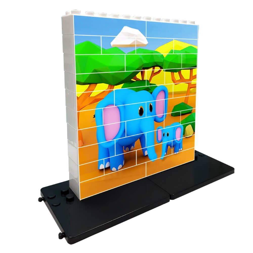 Puzzle elefantes 32 piezas