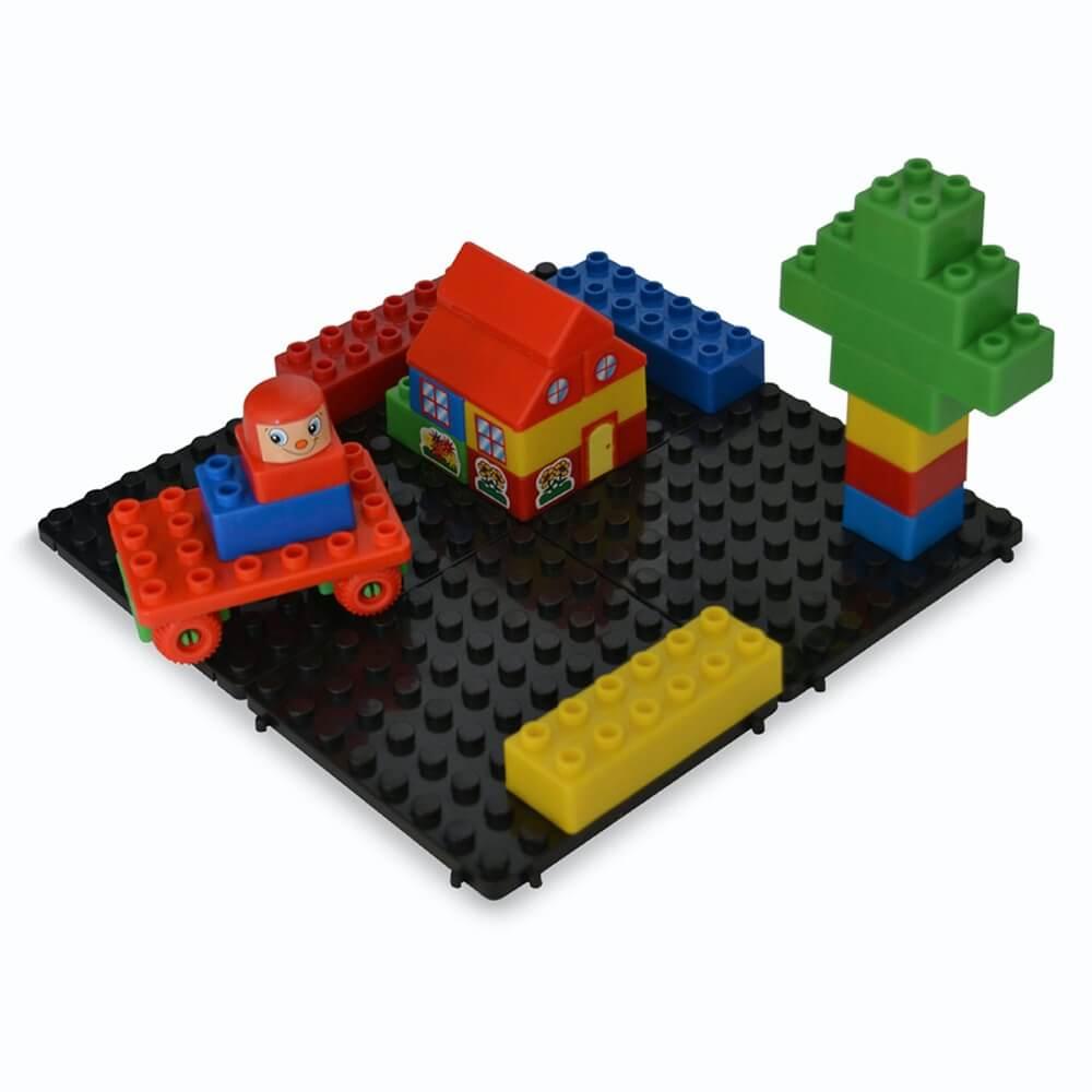 base modular con piezas construcciones 4 piezas