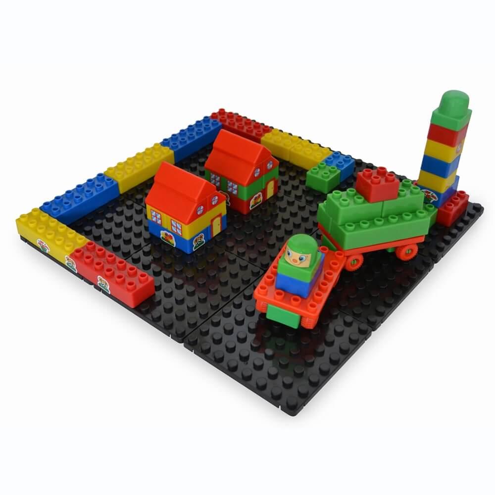 base modular con piezas construcciones 9 piezas