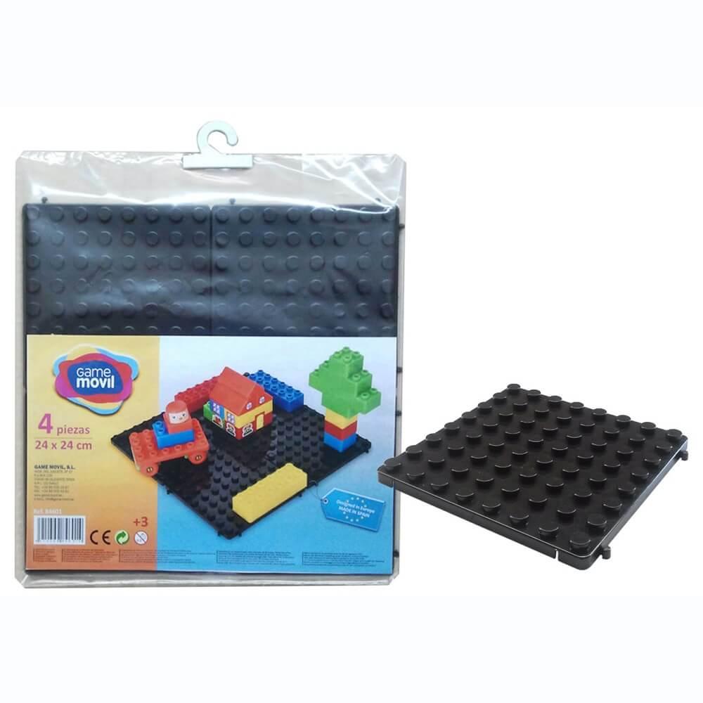 base modular construcciones 4 piezas negro ref 84601