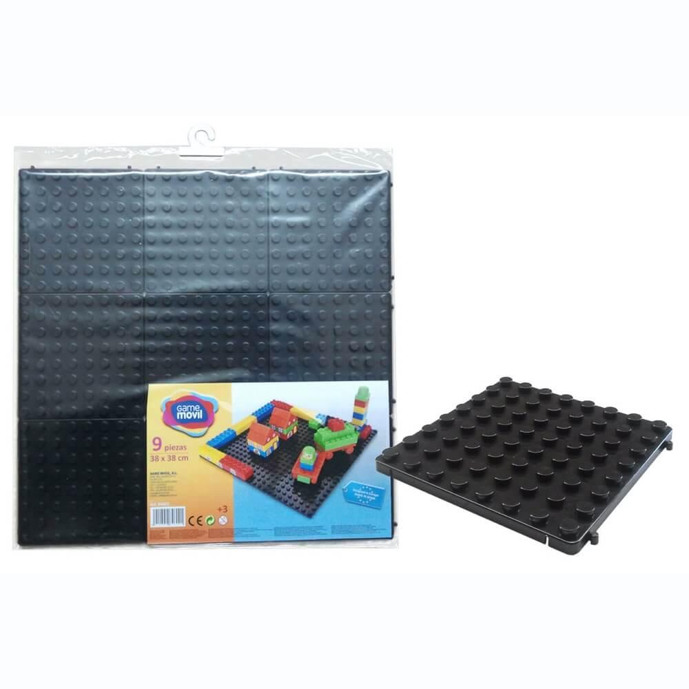 base modular construcciones 9 piezas negro ref 84602