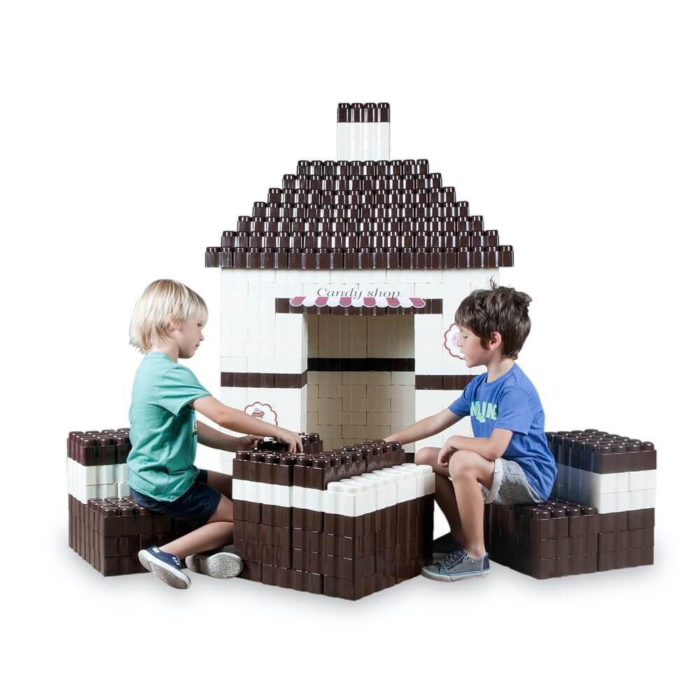 bloques gigantes candy shop con mesa y sillas 384 piezas ref 88211
