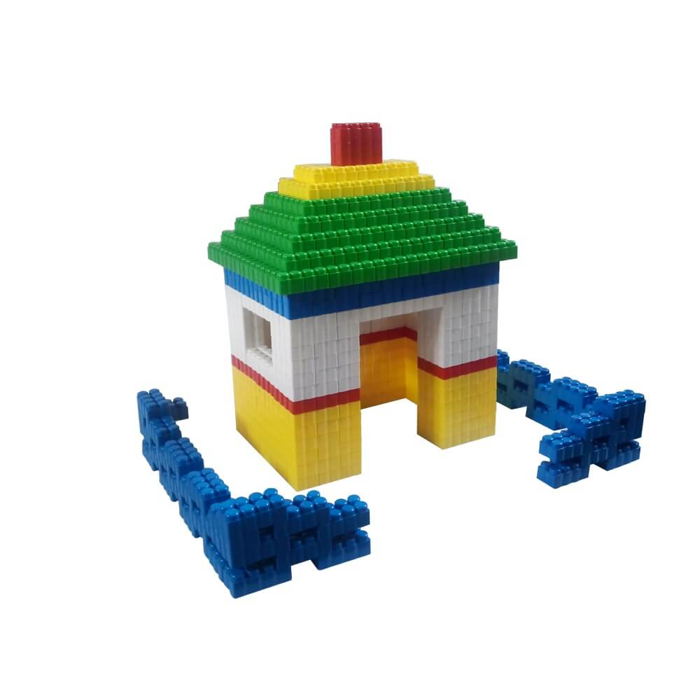 bloques gigantes casa y valla 384 piezas ref 88201