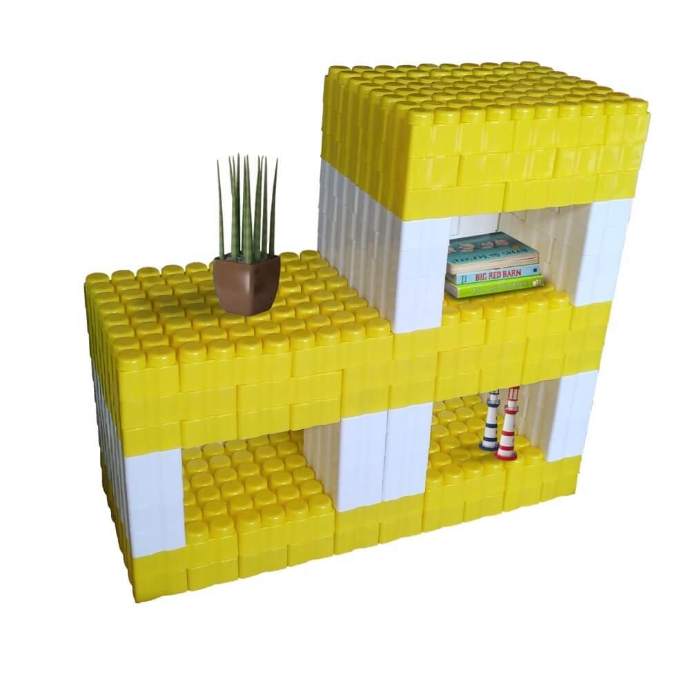 bloques gigantes estantería amarilla 192 piezas ref 88280