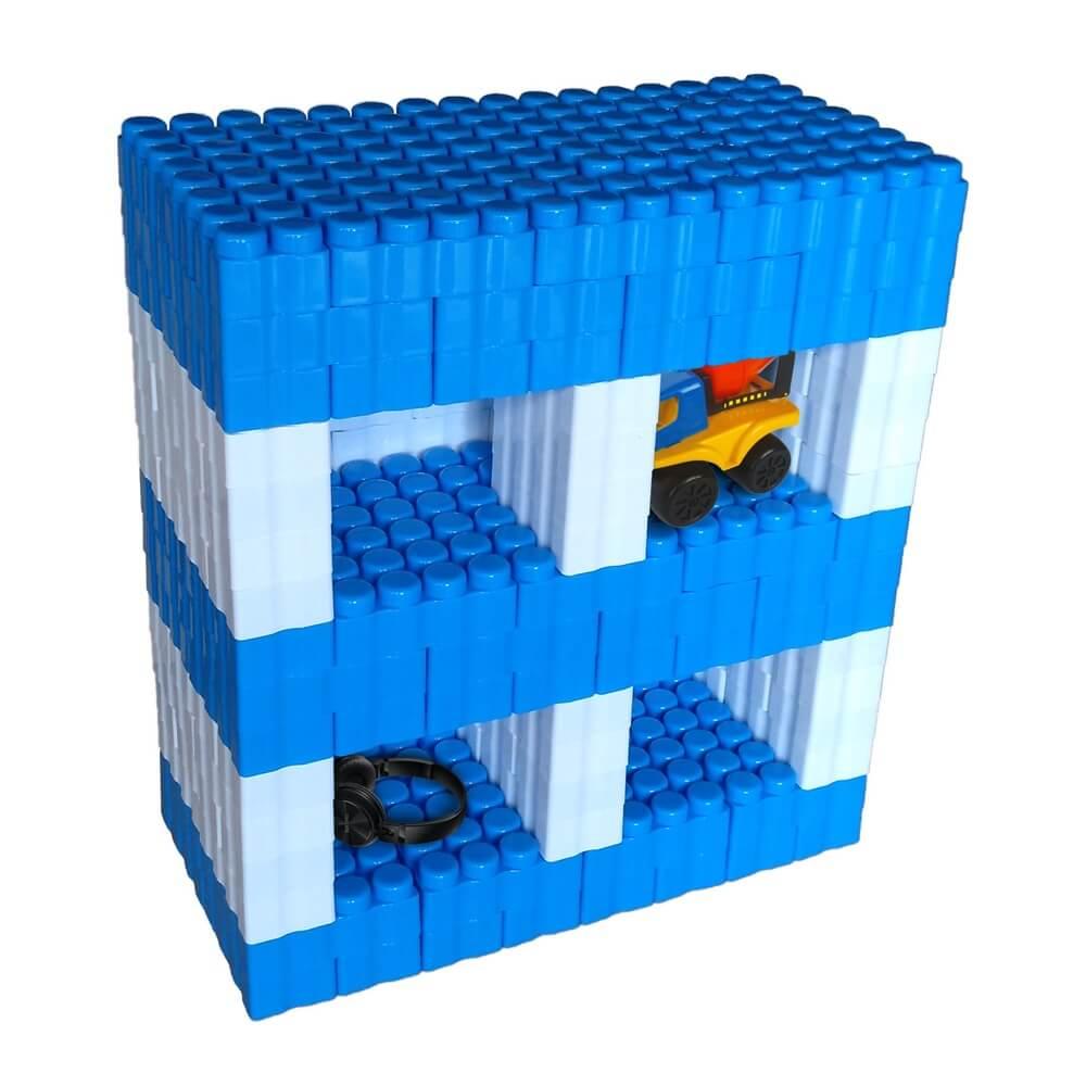 bloques gigantes estantería azul 192 piezas ref 88281