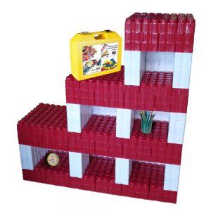 bloques gigantes estantería roja 288 piezas ref 88282