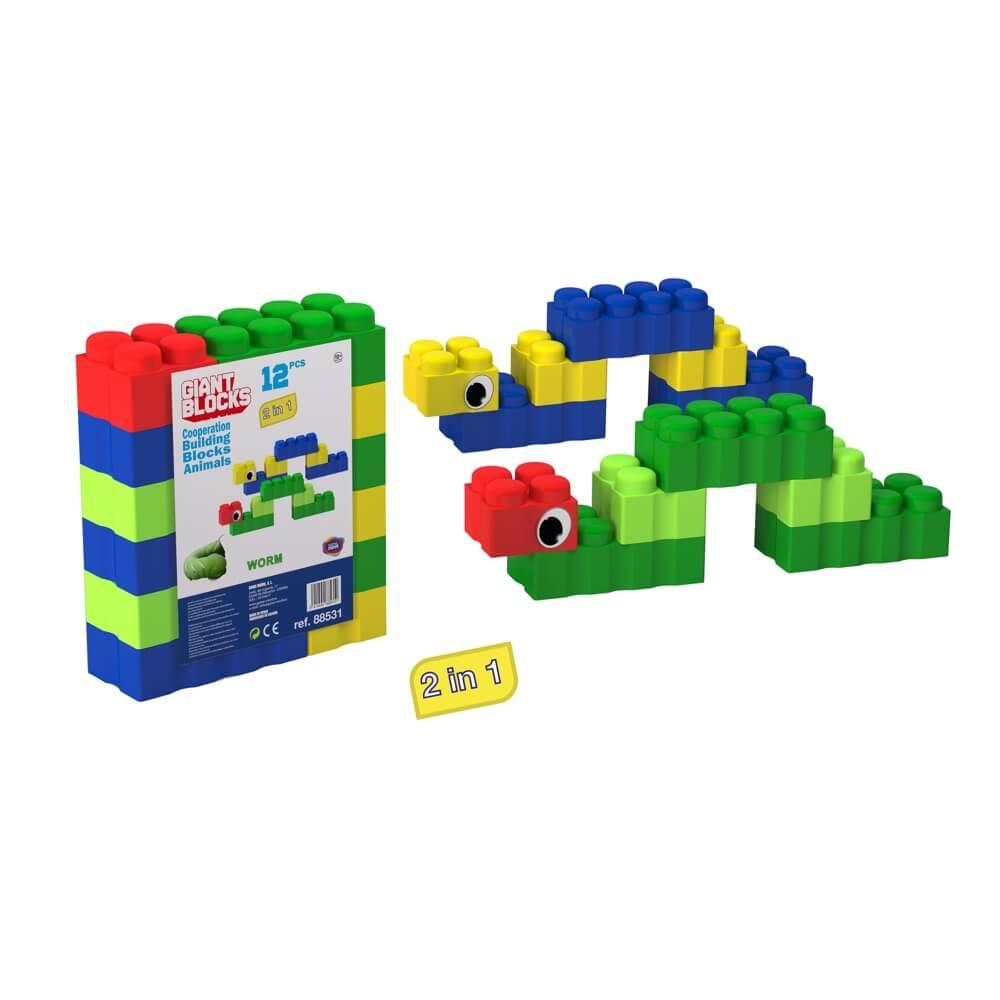 bloques gigantes gusano 12 piezas ref 88533