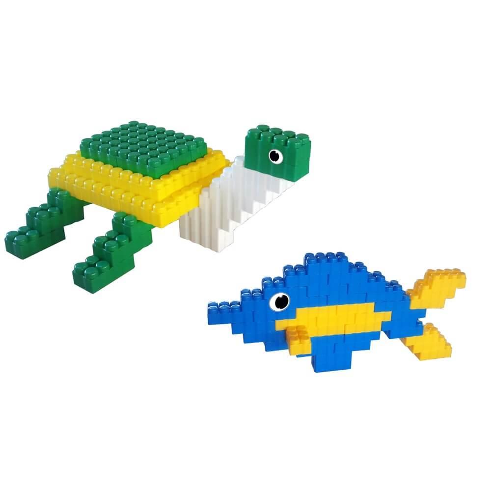 bloques gigantes pez y tortuga 96 piezas ref 88204