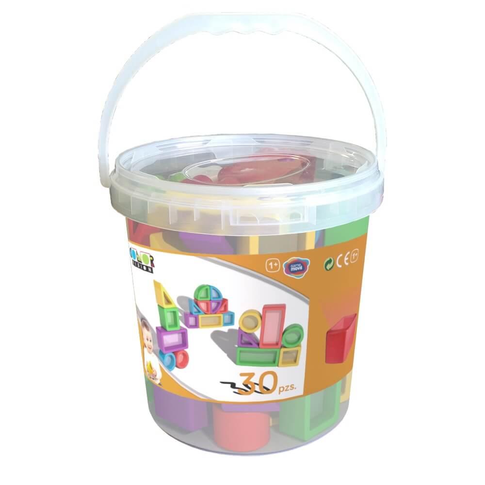 construcciones para equilibrio con cristal mesa luz envase 30 piezas ref 62205