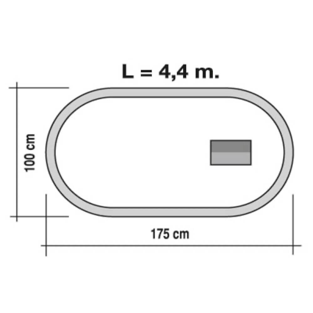 doble tren viajeros y mercancías circuito ref 900