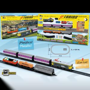 doble tren viajeros y mercancías ref 900