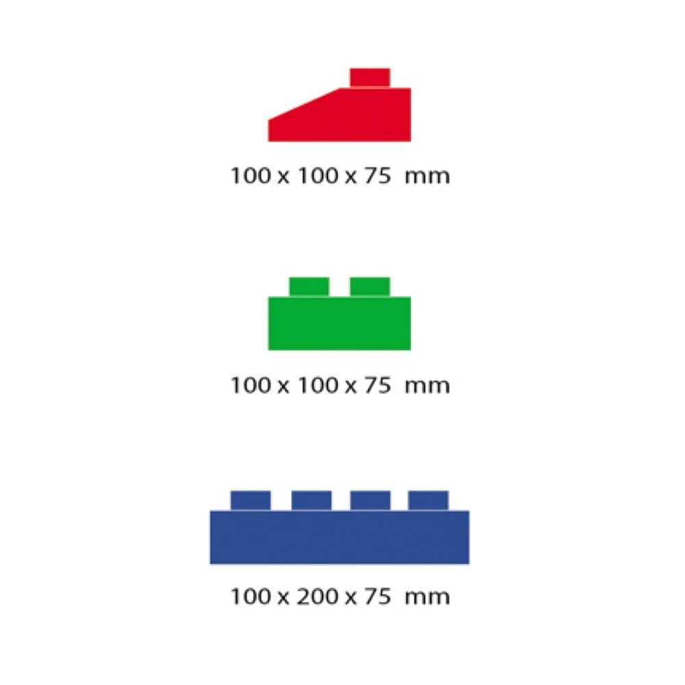 medidas bloques gigantes 3 tamaños