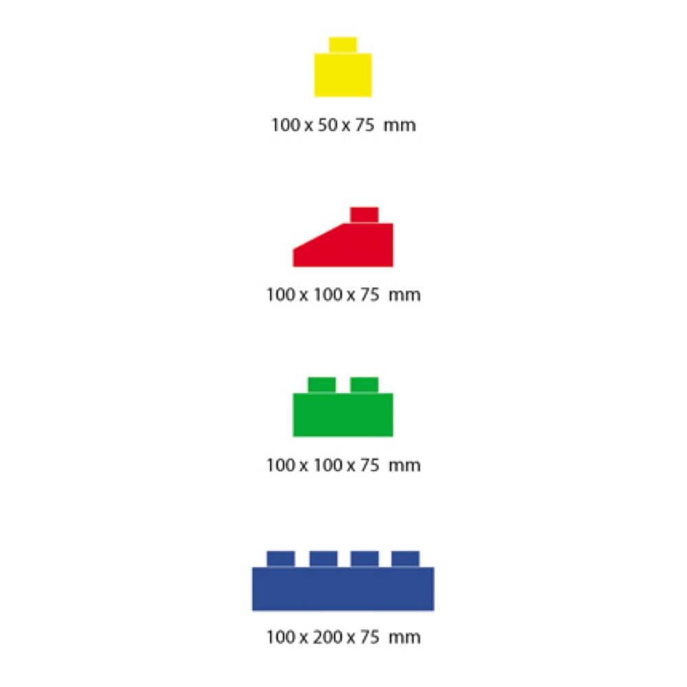 medidas bloques gigantes 4 tamaños