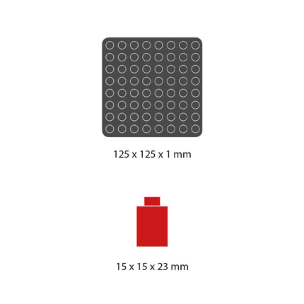 medidas piezas mosaico pixel color