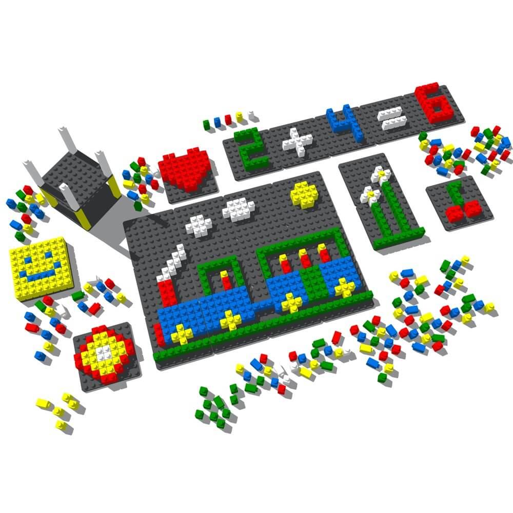 mosaico pixel color 718 piezas ref 84803