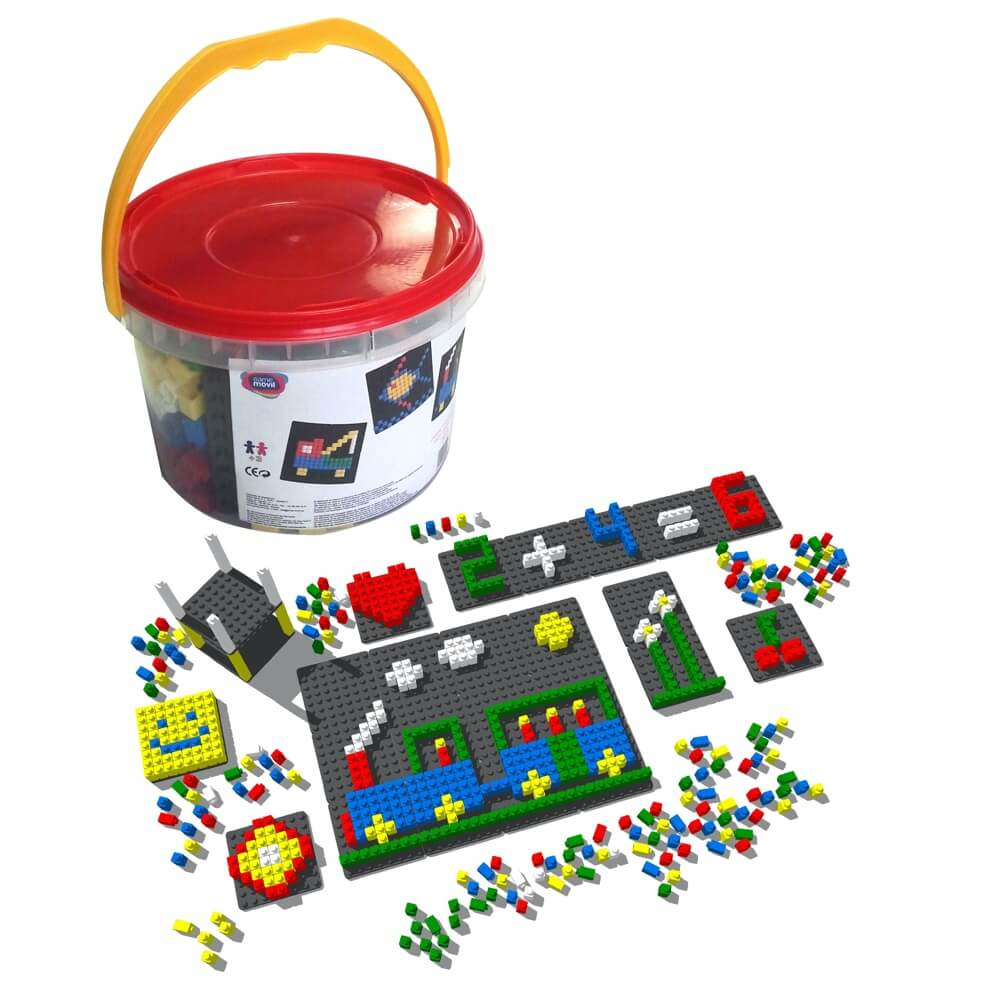 mosaico pixel color envase 813 piezas ref 84810