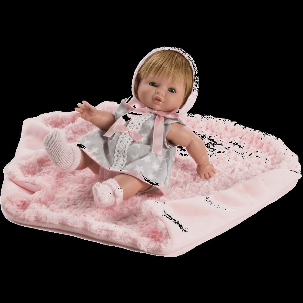 muneca baby chusin vestido gris ref 3212