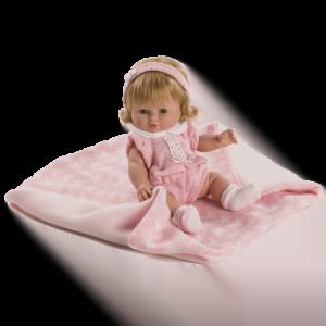 muneca baby chusin vestido rosa ref 3210