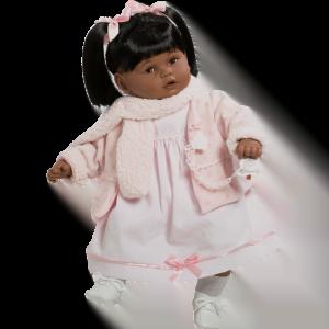 muneca baby dulzona negrita vestido rosa ref 8036N