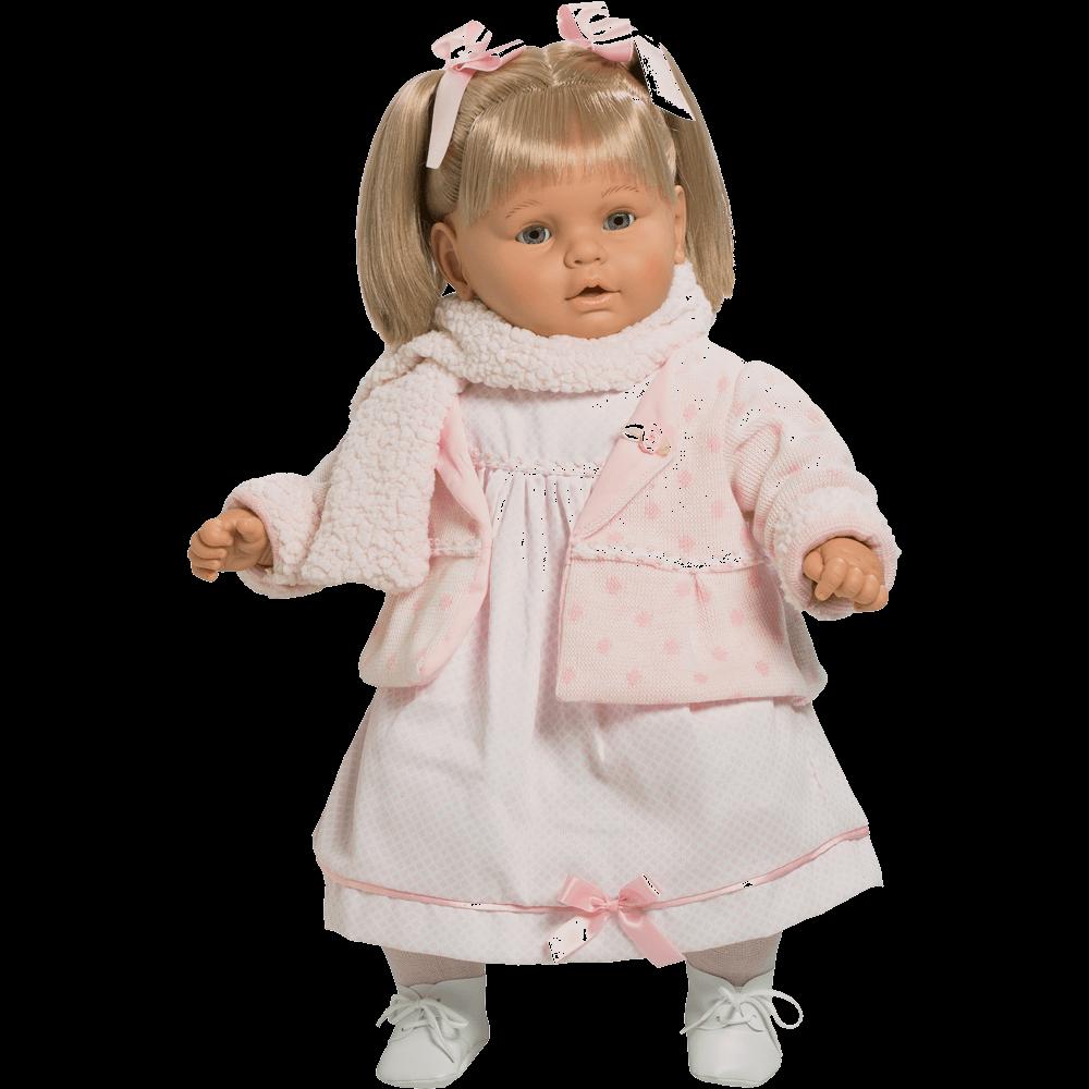 muneca baby dulzona vestido rosa ref 8036