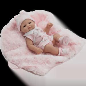 muneca mini recien nacida vestido rosa ref 2504R