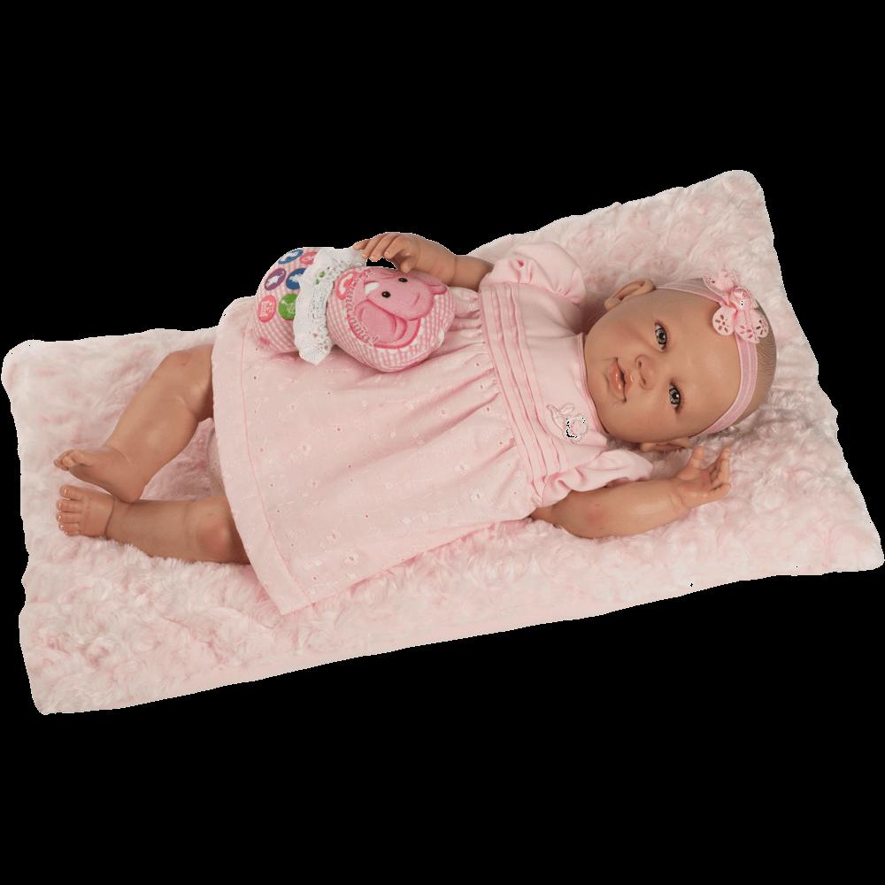 baby reborn vestido rosa ref 5300