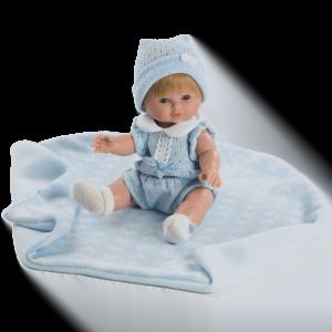 muneco baby chusin traje azul ref 3211