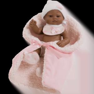 muneco mini recien nacido negrito rosa ref 2503NR