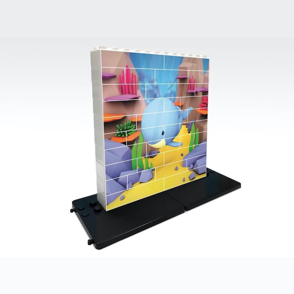 puzle vertical de construccion ballena 32 piezas ref 83103