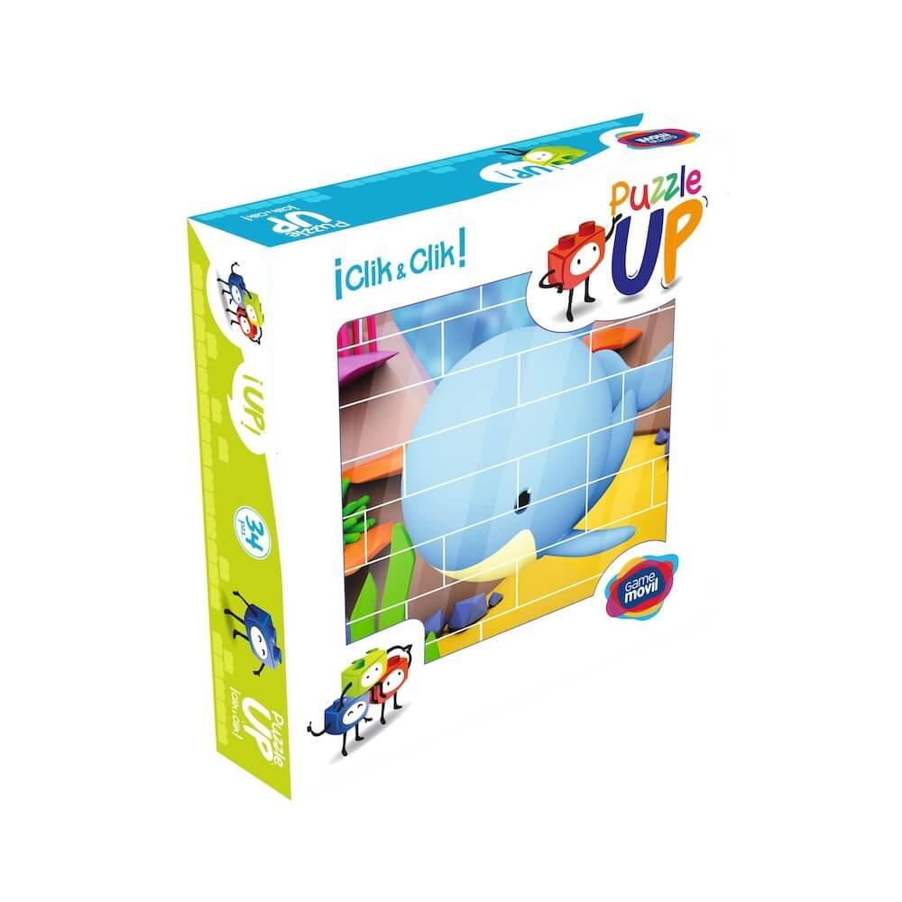 puzle vertical de construccion ballena envase 32 piezas ref 83103