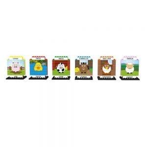 puzle vertical de construccion bilingue animales de granja 102 piezas ref 83435