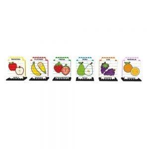 puzle vertical de construccion bilingue frutas 102 piezas ref 83426