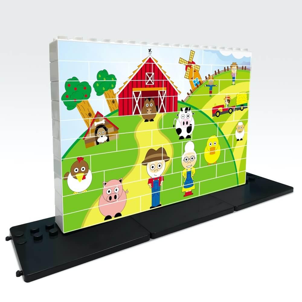 puzle vertical de construccion granja 48 piezas ref 83401