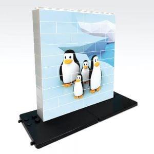 puzle vertical de construccion pinguino 32 piezas ref 83101