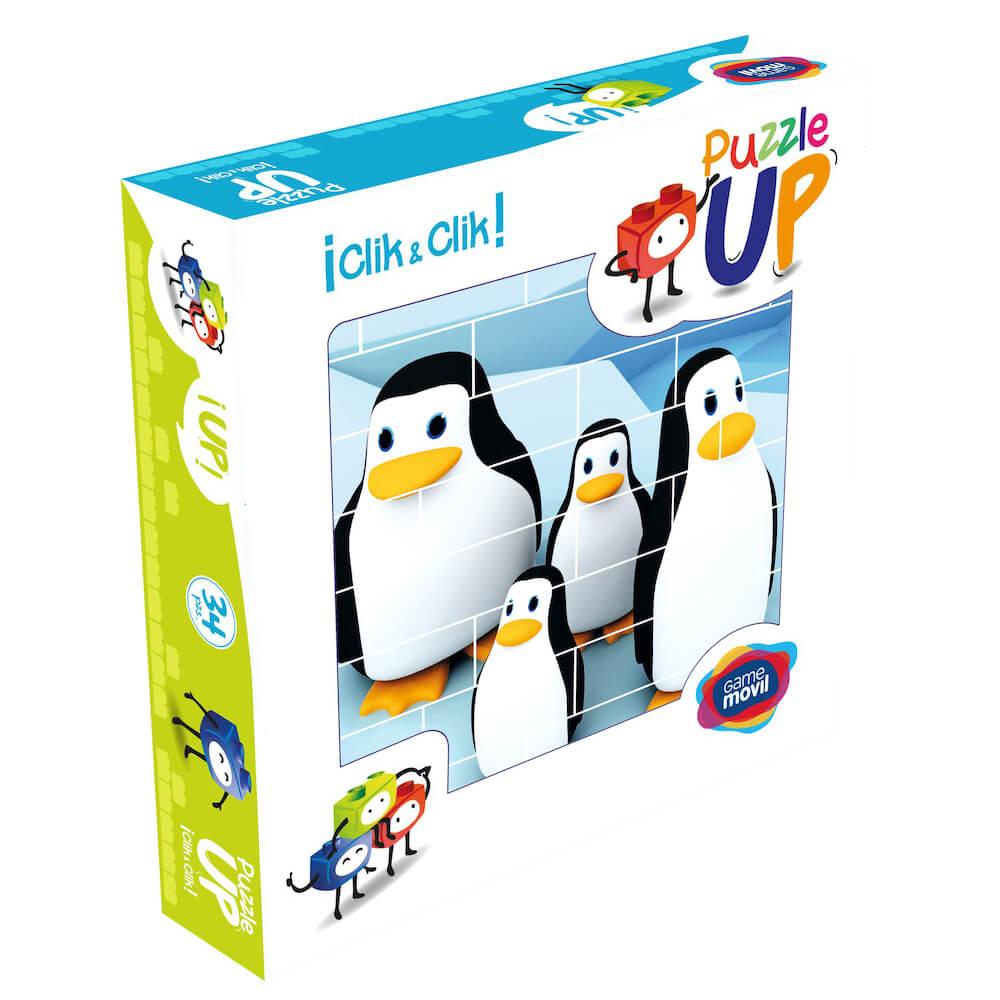 puzle vertical de construccion pinguino envase 32 piezas ref 83101