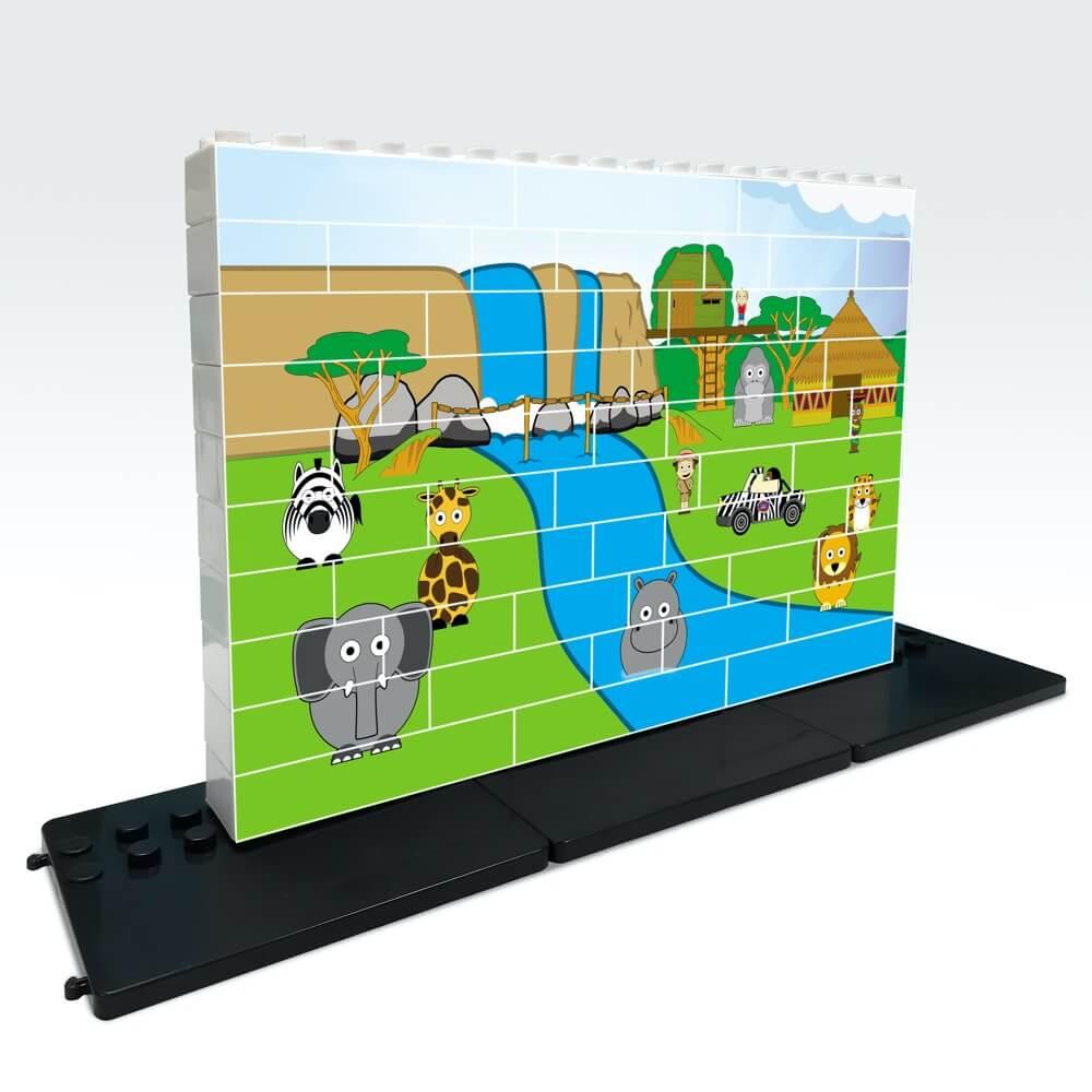 puzle vertical de construccion selva 48 piezas ref 83410