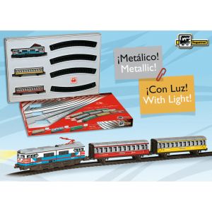tren de viajeros de colores ref 202