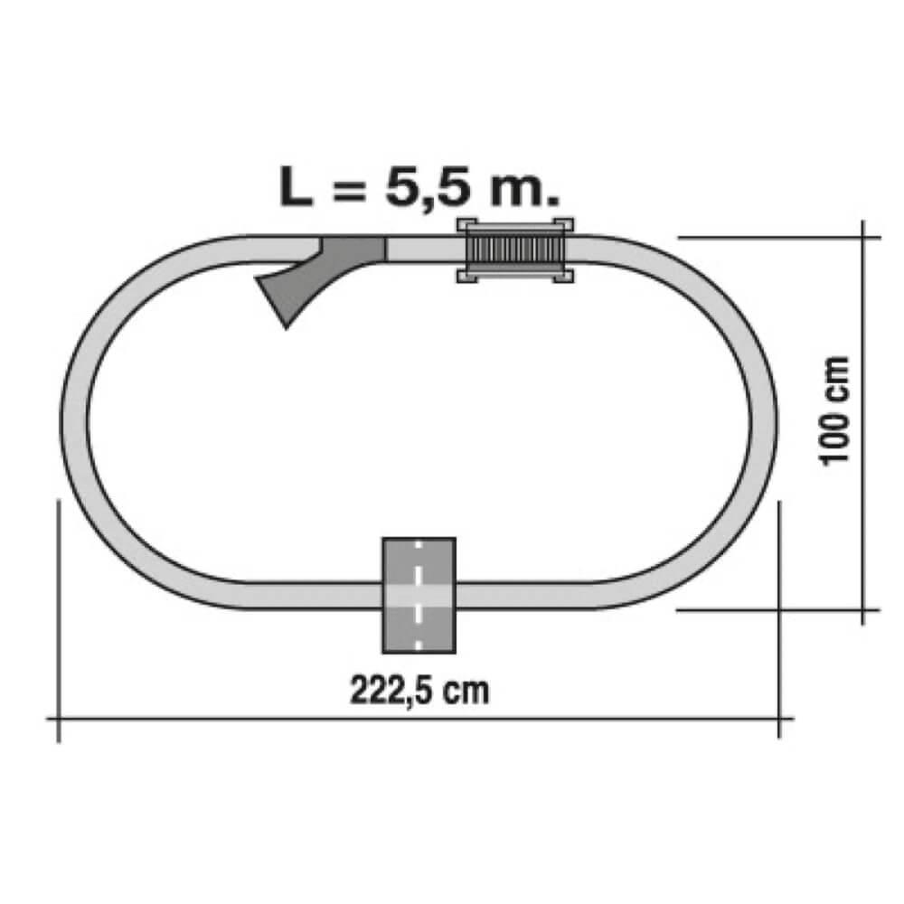 tren renfe viajeros y mercancías circuito ref 905
